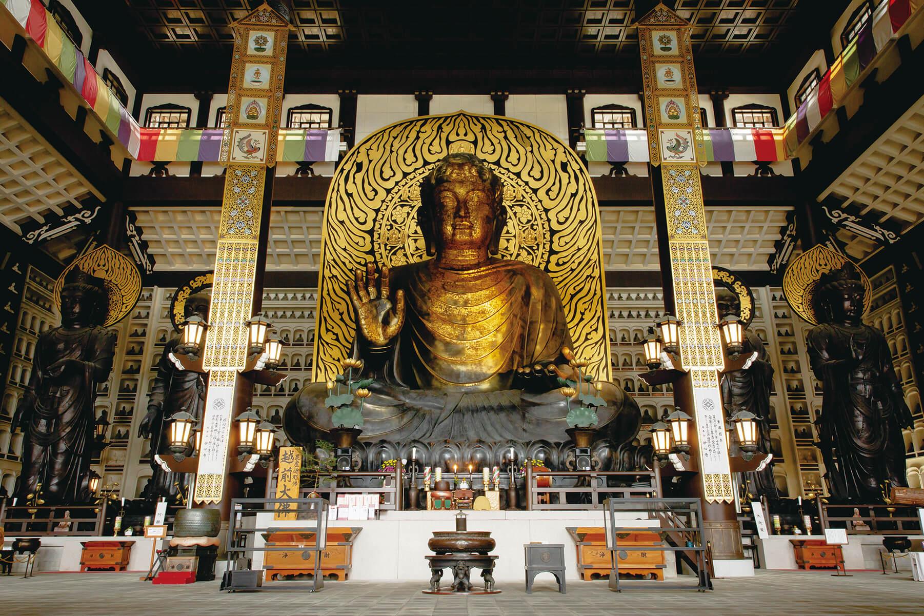 日本最大の屋内座像 奈良の大仏をしのぐ圧巻の大仏様